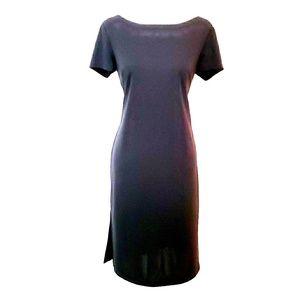 Little Black Dress w/ Front Pocket & Side Slits